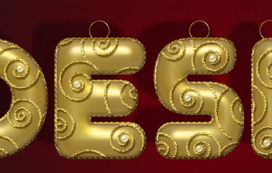 Decorated Gold Metallic Text Effect step 9