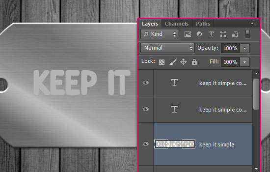 Embossed Metal Tag Text Effect step 5