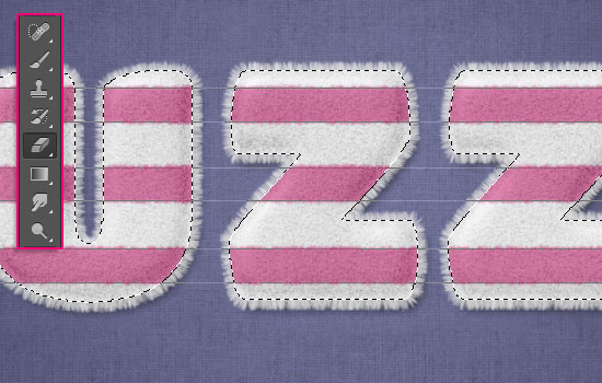 Striped Fuzzy Text Effect step 6