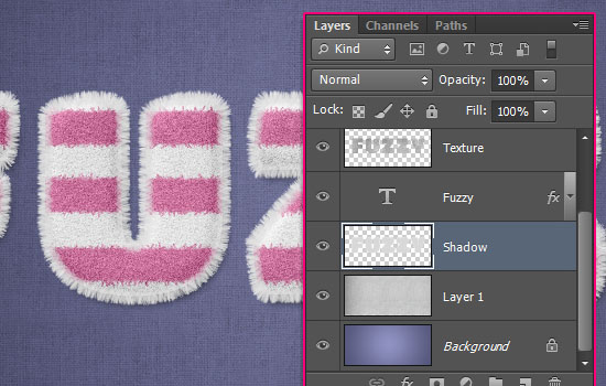 Striped Fuzzy Text Effect step 8