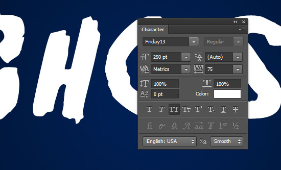 Ghostly Text Effect step 1