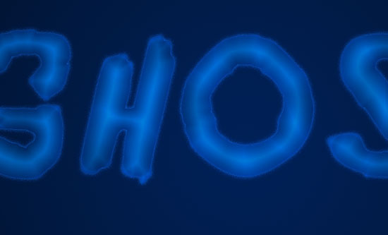 Ghostly Text Effect step 2