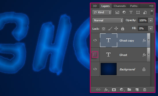 Ghostly Text Effect step 3