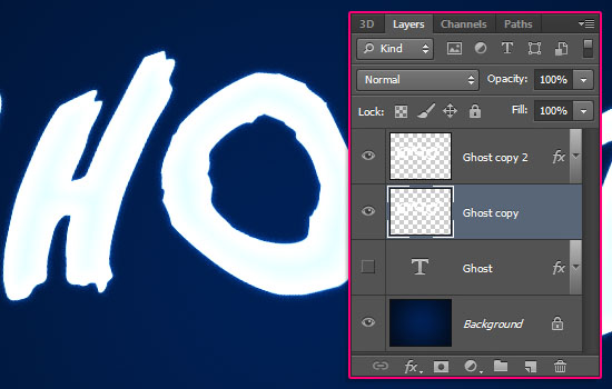 Ghostly Text Effect step 4