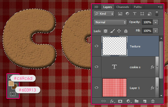 Gingerbread Cookies Text Effect step 3
