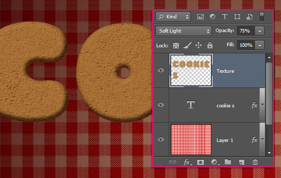 Gingerbread Cookies Text Effect step 4