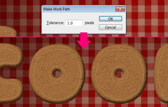 Gingerbread Cookies Text Effect step 5