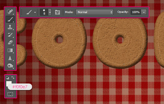 Gingerbread Cookies Text Effect step 6