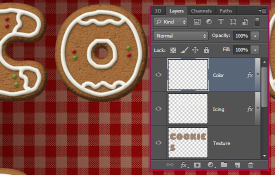 Gingerbread Cookies Text Effect step 7