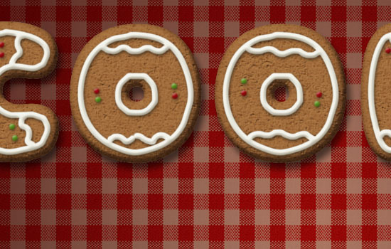 Gingerbread Cookies Text Effect step 8