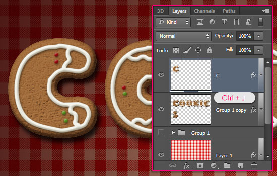 Gingerbread Cookies Text Effect step 9
