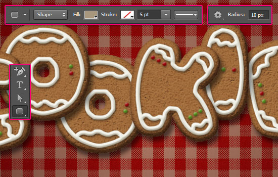 Gingerbread Cookies Text Effect step 10