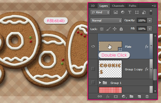Gingerbread Cookies Text Effect step 11
