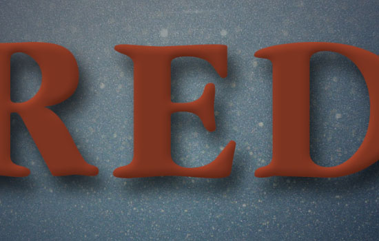 Glittering Red and Melting Ice Text Effect step 3