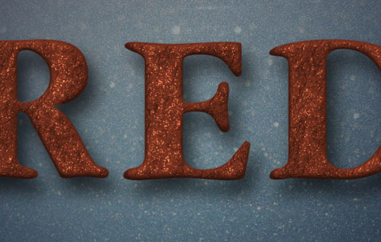 Glittering Red and Melting Ice Text Effect step 4