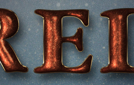 Glittering Red and Melting Ice Text Effect step 7