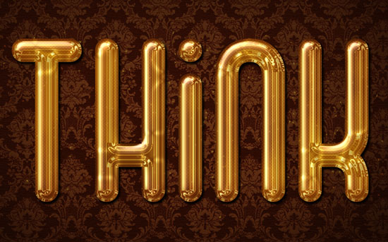 Glossy Gold Text Effect