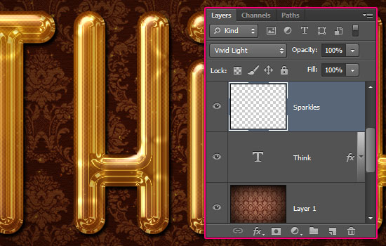 Glossy Gold Text Effect step 7