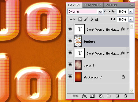 Glossy Encapsulated Text Effect step 4