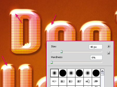 Glossy Encapsulated Text Effect step 5