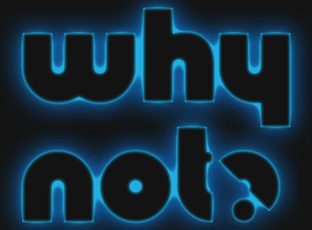 Glowing Polkadots Text Effect step 2