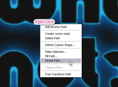 Glowing Polkadots Text Effect step 5