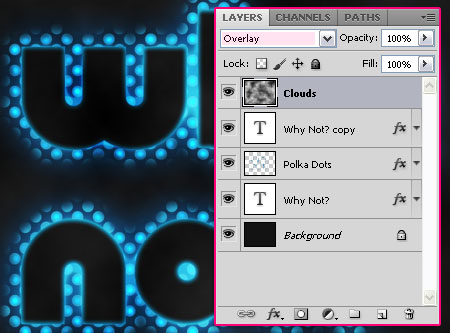 Glowing Polkadots Text Effect step 6