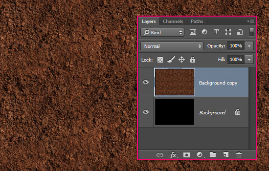 Grass and Dirt Text Effect step 1