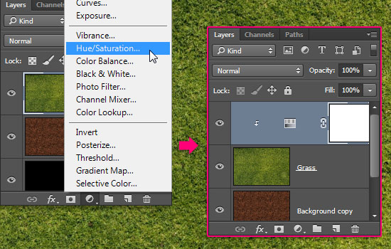 Grass and Dirt Text Effect step 2