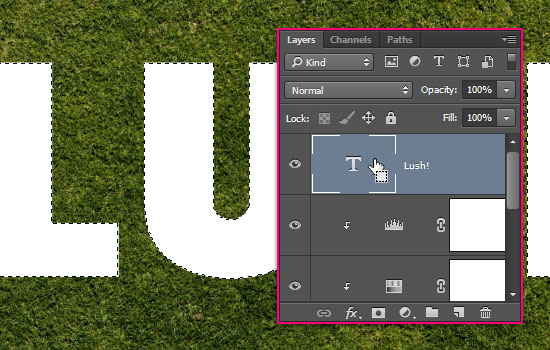 Grass and Dirt Text Effect step 3