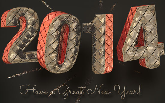 Inflated Foil Text Effect