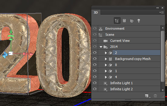 Inflated Foil Text Effect step 8