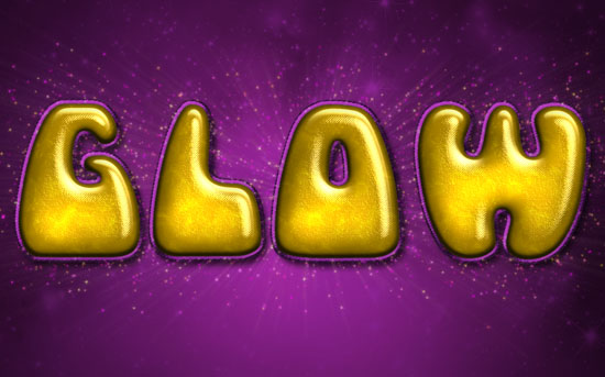 Inflated Satin Text Effect
