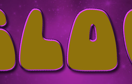Inflated Satin Text Effect step 3