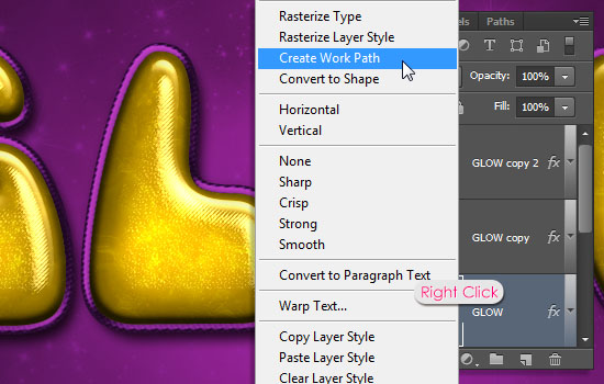 Inflated Satin Text Effect step 7