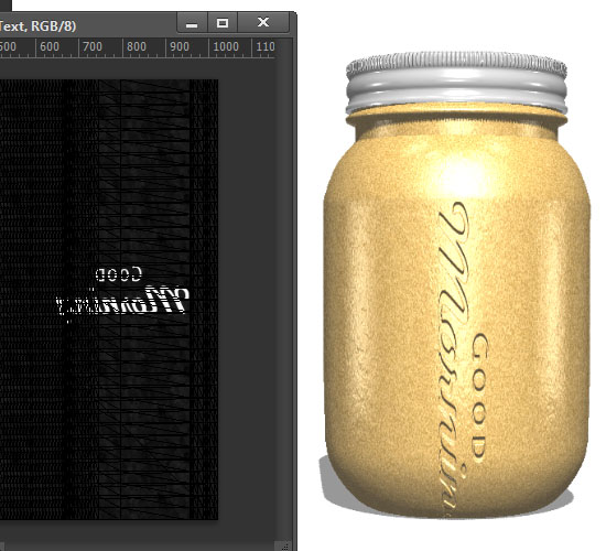 Jar Embossed Text Effect step 8