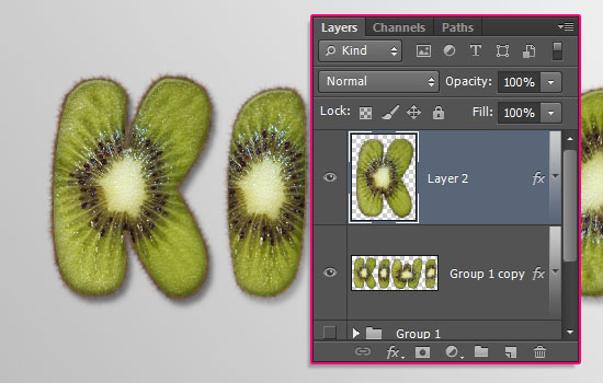 Kiwi Text Effect step 7