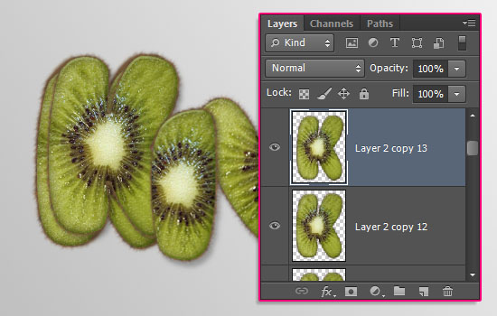 Kiwi Text Effect step 8
