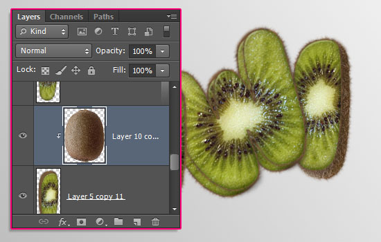 Kiwi Text Effect step 9