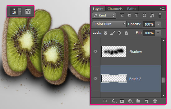 Kiwi Text Effect step 10