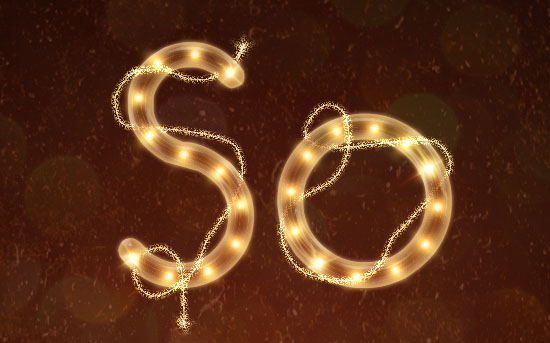 Rope Light Text Effect
