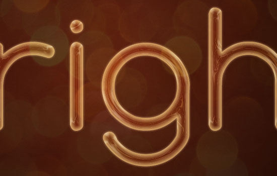 Rope Light Text Effect step 3