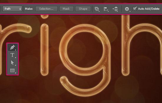 Bright Rope Light Text Effect: PSD Christmas Light Font