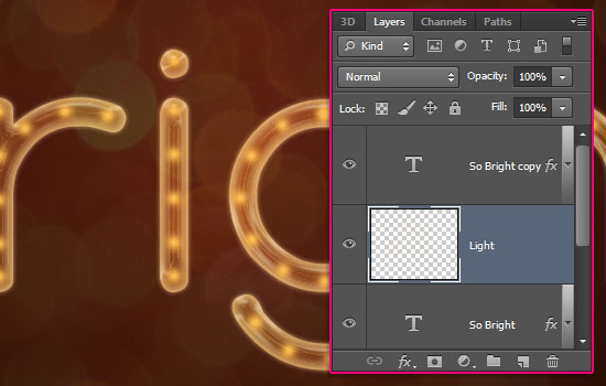 Rope Light Text Effect step 8