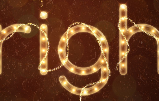 Rope Light Text Effect step 12