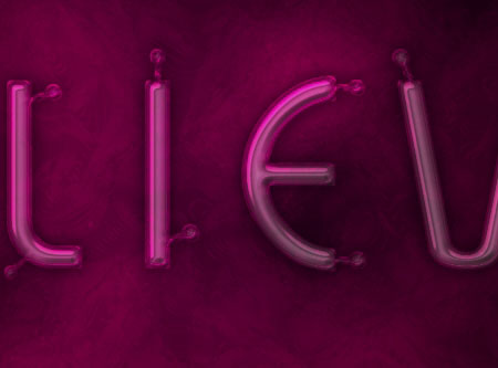 Light Tubes Text Effect step 3