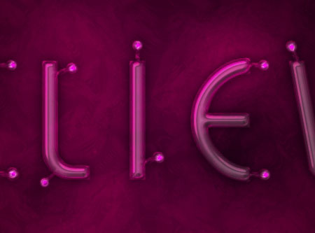 Light Tubes Text Effect step 4