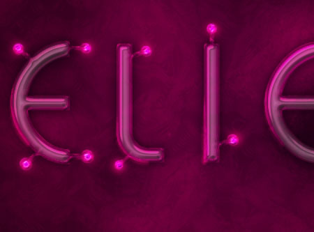 Light Tubes Text Effect step 6