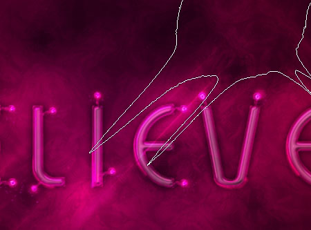 Light Tubes Text Effect step 7