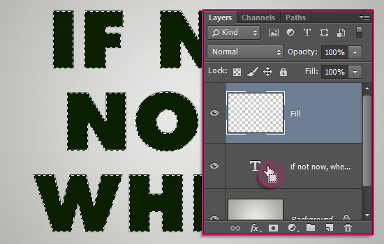 Low-Poly Text Effect step 1